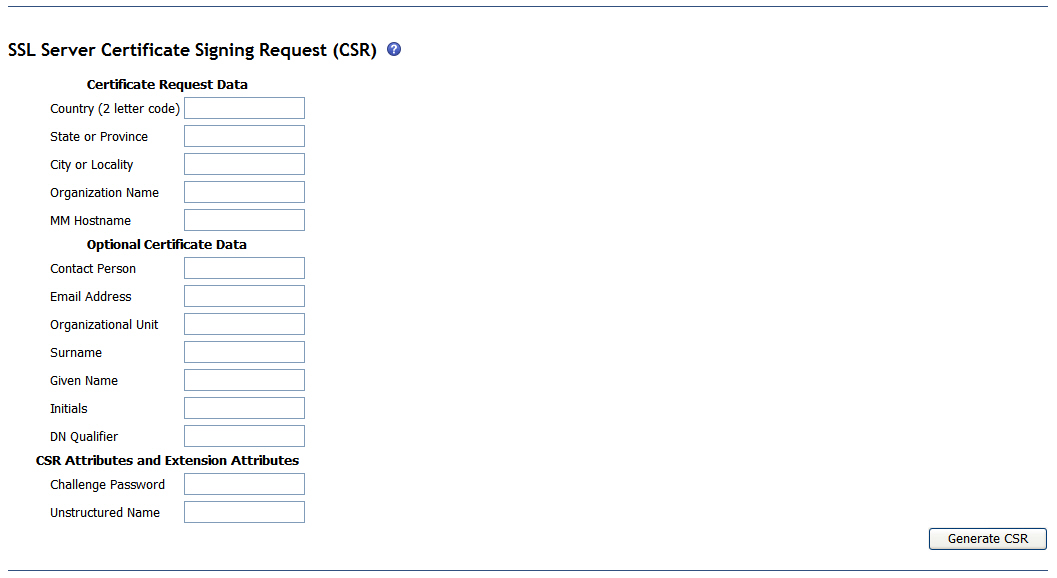 Bladecenter Web Interface Generating A Certificate Signing Request